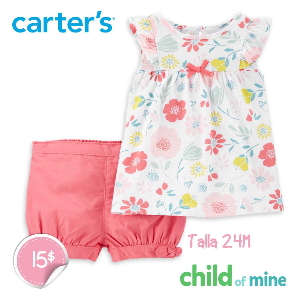 Camisa y pantalones cortos florales