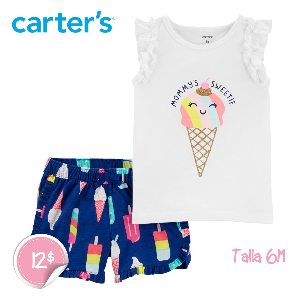 Juego de camiseta y short Ice Cream de 2 piezas