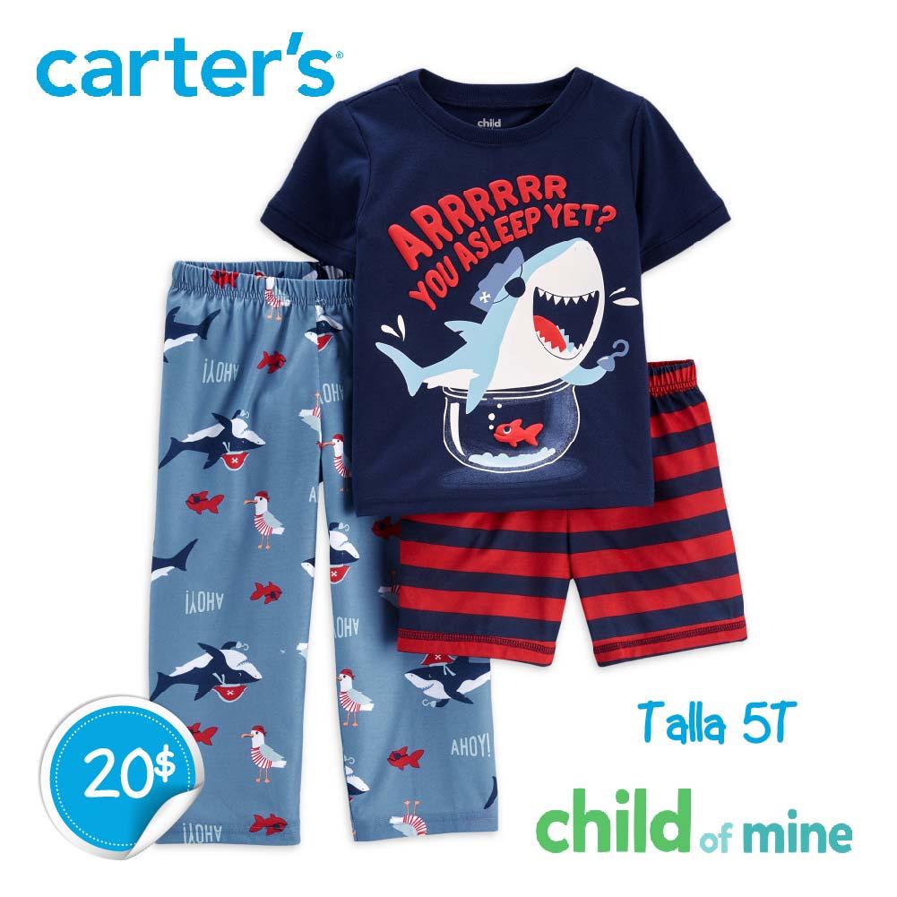 Pijama de Tiburón 3 piezas