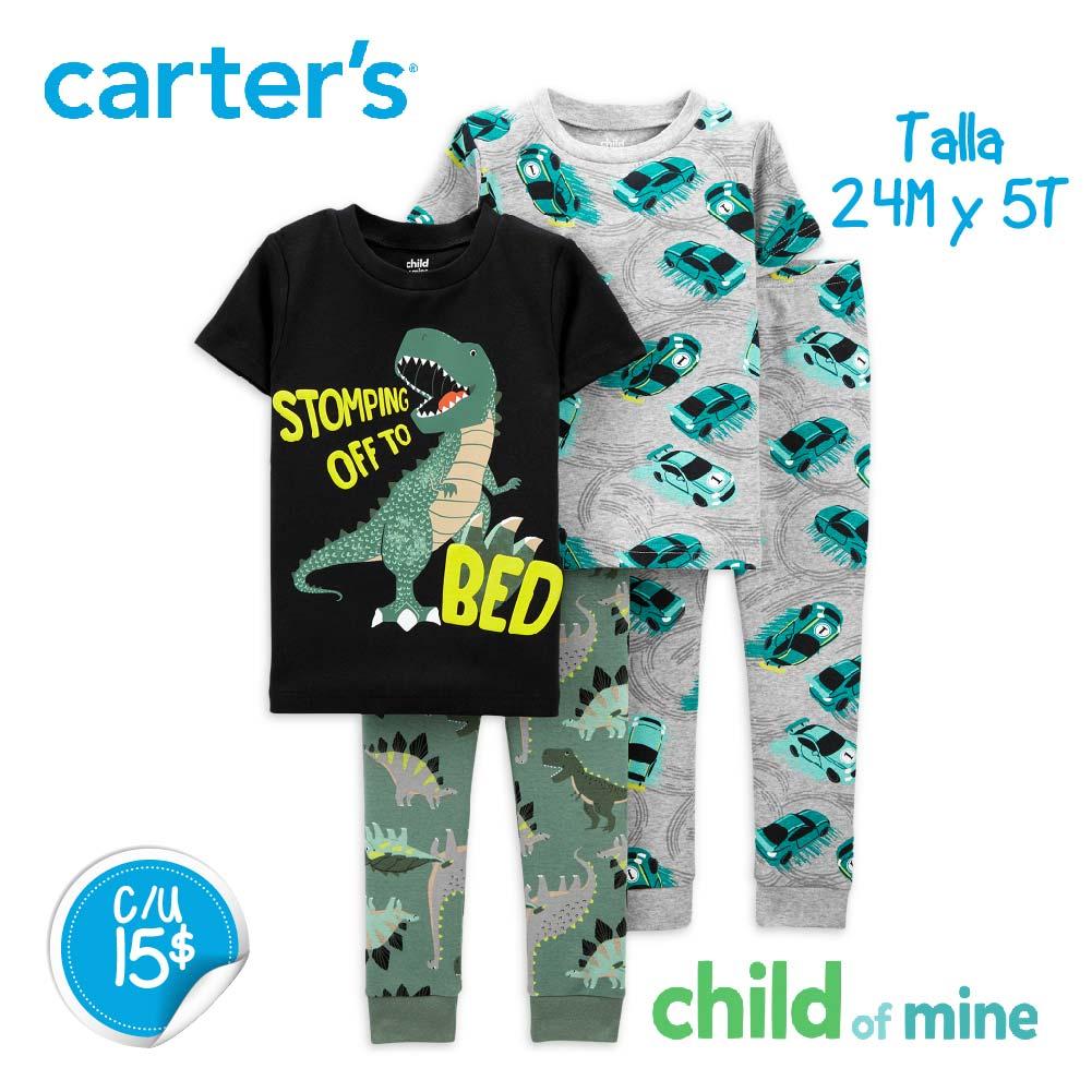 Pijama Dino / Carritos hora de dormir