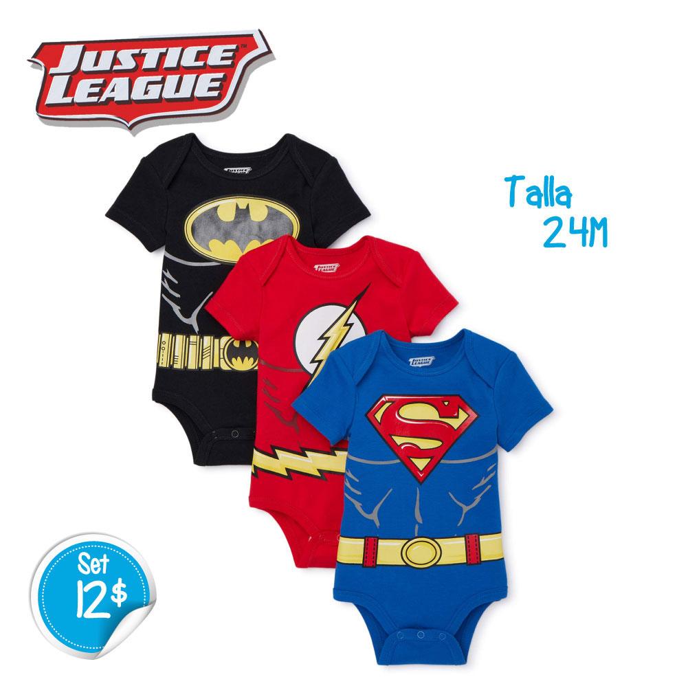 Set de 3 Bodys Justice League