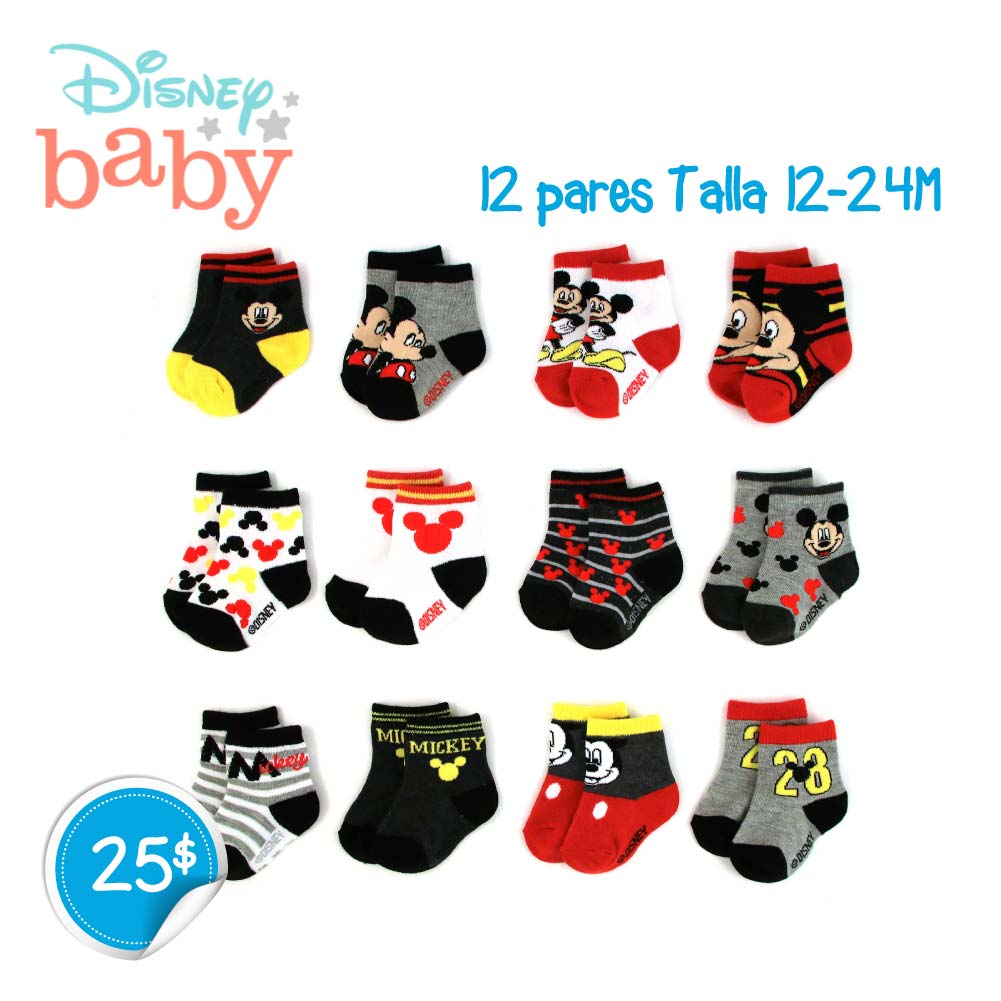 Pack de 12 pares medias Mickey